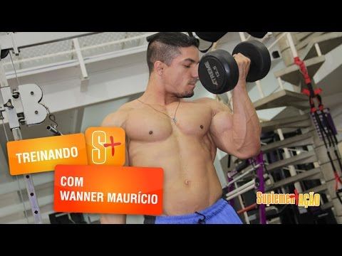Treino de bíceps e tríceps com Wanner Mauricio
