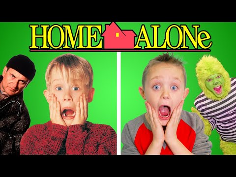 Home Alone! Full Movie Recreated by Kids Fun TV (Part 2)
