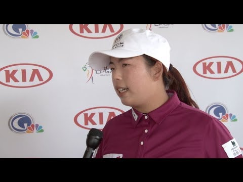 1st Round Interview with Shanshan Feng at the 2014 Kia Classic