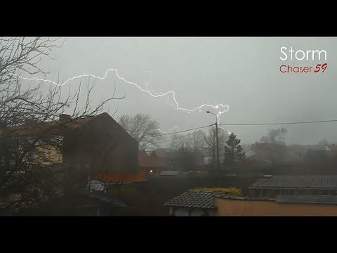Orage Violent | Severe Hail Storm ► Lille (59) France | 03 January 2014 | HD