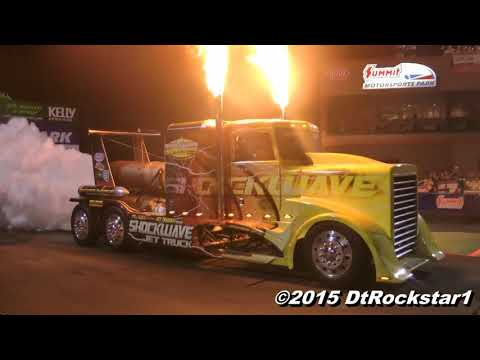 240 Night Under Fire   Top Fuel, Jet Funny cars, Shockwave