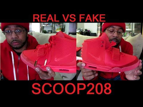 "Nike Air Yeezy 2 ""Red October"" REAL vs THE BEST FAKE (must see"