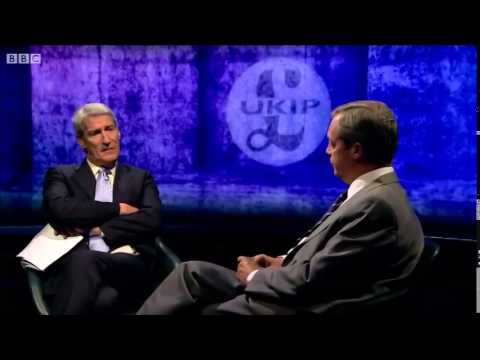Nigel Farage Vs Jeremy Paxman On UKIP Smears