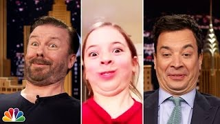 Ricky Gervais' Contorted Face Off