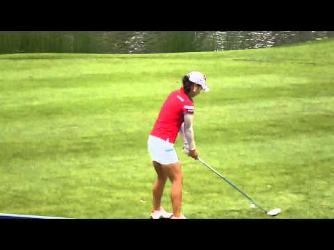 Hee Young Park tee shot (slow motion) at 2013 Sime Darby LPGA