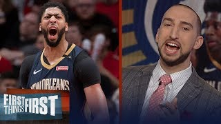 Nick Wright on Pelicans' 2 playoff wins over Lillard's Blazers, Talks LeBron | FIRST THINGS FIRST