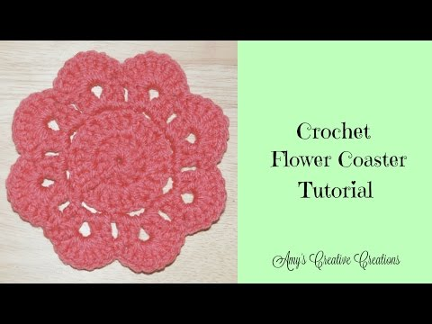 Crochet Flower Coaster Tutorial