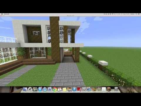 Como hacer una Linda Casa Moderna en Minecraft  (PT1)