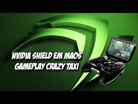 Nvidia shield em mãos-Gameplay Crazy Taxi