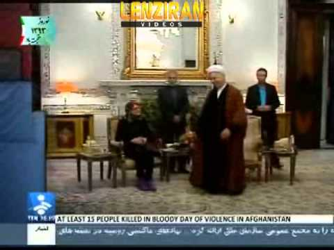Foreign delegation in Iran &  Catherine Ashton  guard threatening  cameraman  with his pistol !