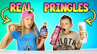 PRINGLES vs REAL!!!!!