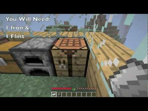 how to make flint in minecraft