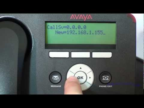 Installation and Configuration of Avaya 1600/9600 Series IP Telephones (NON-DHCP) - Avaya PBX - HD