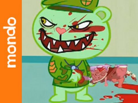 Happy Tree Friends - Lesser of Two Evils, In the second HTF TV episode, learn about unbalanced forces at Flippys surprise party, Disco Bears belly and the law of gravity, then finally, when Lumpy bec...