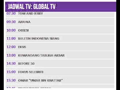 Jadwal TV: GLOBAL TV - 20 Juli 2014