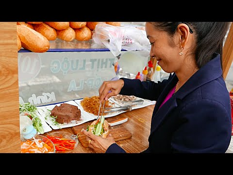 BANH MI SANDWICH COMPILATION - Vietnam Street Food (Can Tho)