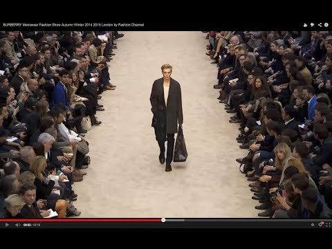 BURBERRY Menswear Fashion Show Autumn Winter 2014 2015 London by Fashion Channel