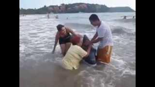 Revolcones en la playa
