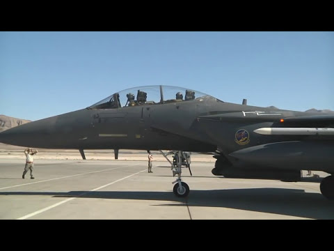 F-15E Planes and Pilots -- Mountain Home AFB, Red Flag