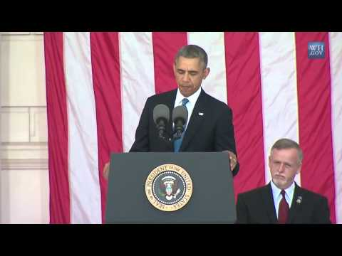 Obama Honors Fallen Patriots At Arlington On Memorial Day 2014