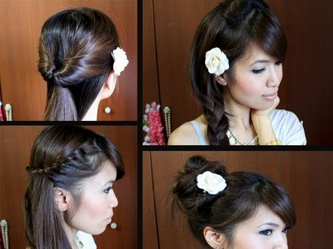 Simple Hairstyles For Long Hair Youtube : Easy Back-to-School Hairstyles for Long Medium Hair Tutorial - YouTube