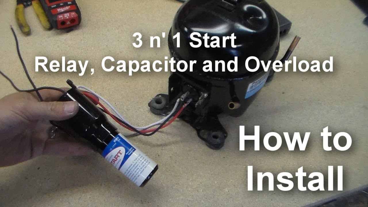 how to install a universal relay 3 n 1 starter on your compressor