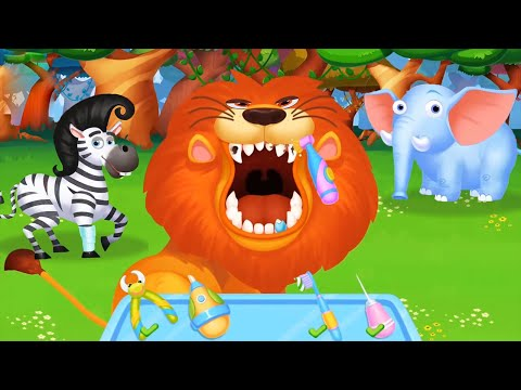 Rescue Jungle Animal with Funny Vet Tools and Learn Animals Fun Game For Kids