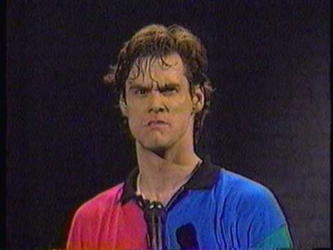 Jim Carrey - Faces - Unatural Act - 1991, Jim Carrey - Faces - Live - Unatural Act - 1991