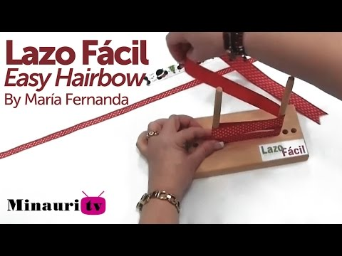 DIY - Minauri te enseña el Lazo Fácil ( Minauri teach you how to make easy hair bows )