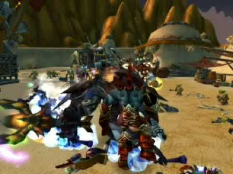 WoW - Horde VS Alliance, Horde VS Alliance. Horde killed the alliance and they retreated back to SW where we died, that sums it up. Song - 3 Inches of Blood - The Goatriders Horde.