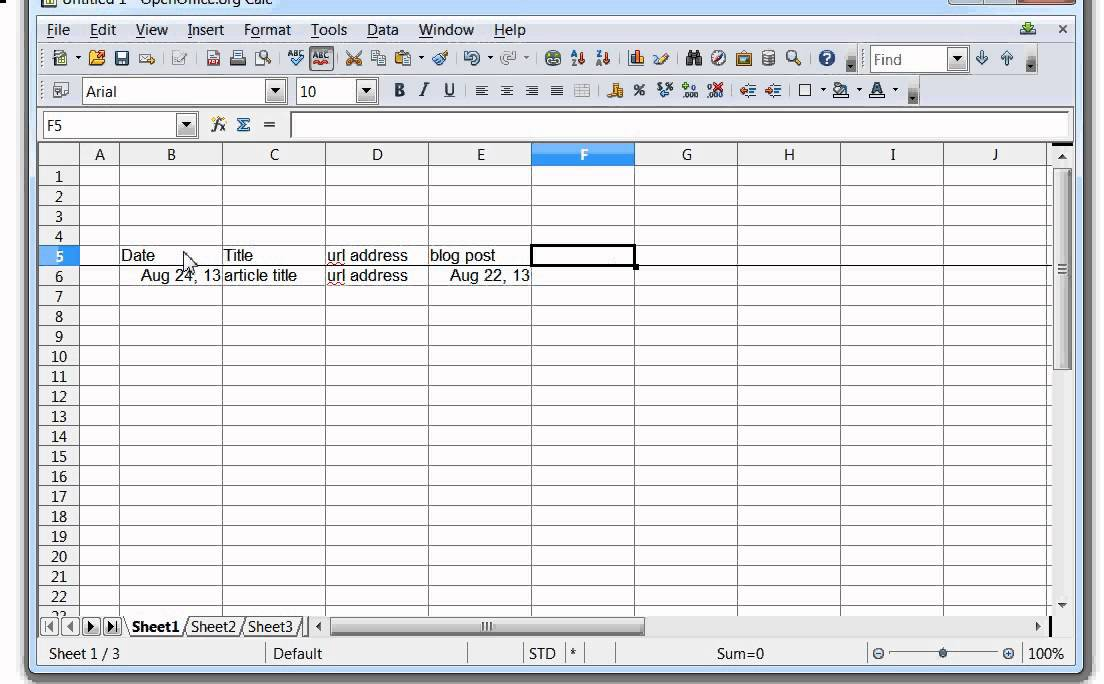Accounts Excel Template
