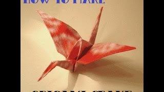 Kako napraviti origami ždrala (How to make origami crane)