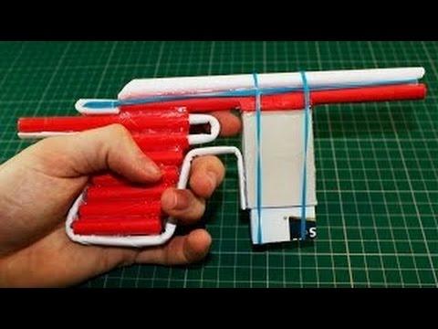 Cách làm súng lục bắn 5 viên đạn giấy tự động