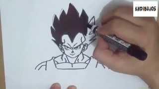 Como Dibujar A Vegeta Dragon Ball Z How To Draw Vegeta