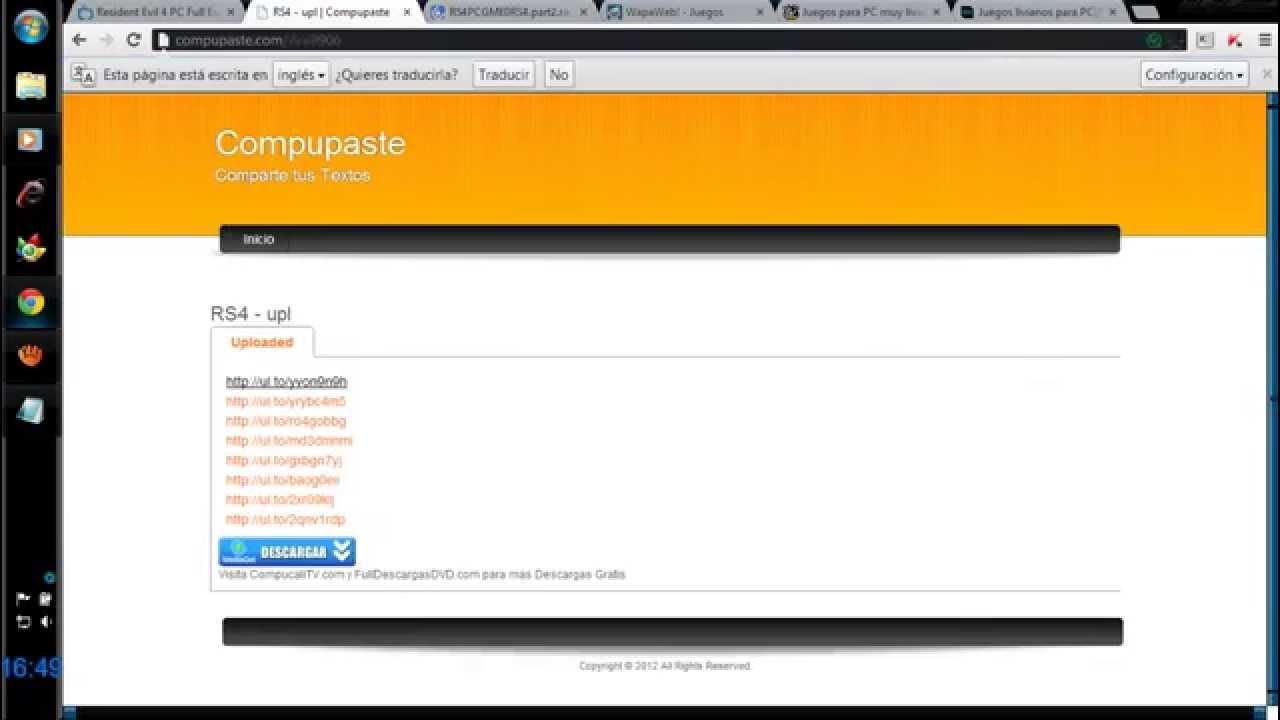 Paginas Parajuegos Para Pc Y Completos En Espanol