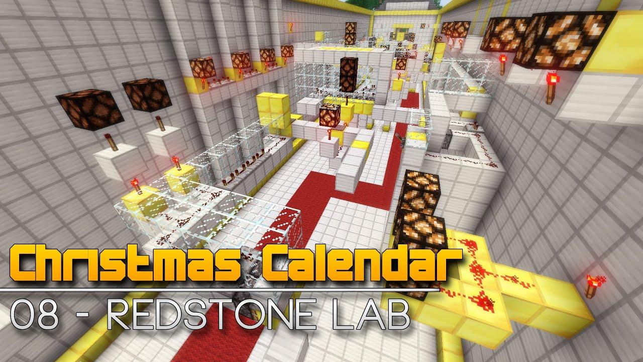 Christmas Calendar Parkour : Christmas calendar redstone lab minecraft parkour