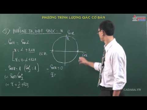 Đại số lớp 11 - HS lượng giác - Phương trình lượng giác cơ bản - Cadasa.vn