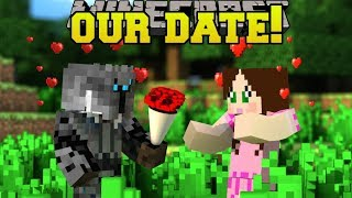Minecraft: PAT & JEN VALENTINE'S DAY DATE!!! - Find The Button Your Valentine - Custom Map