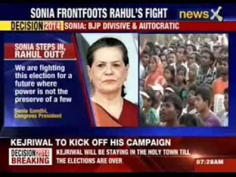 Sonia Gandhi: BJP divisive and autocratic