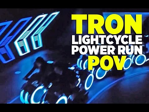 Tron Lightcycle ride in Shanghai -- sadly WAY too short, but I now want to go to there.