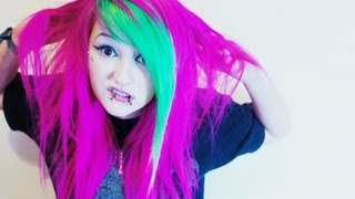 ♥ DYING MY HAIR: Pink and Green! ♥