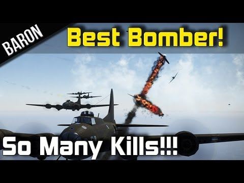War Thunder Best Bomber EVER!  Bomber Formation Fun with So Many Kills!
