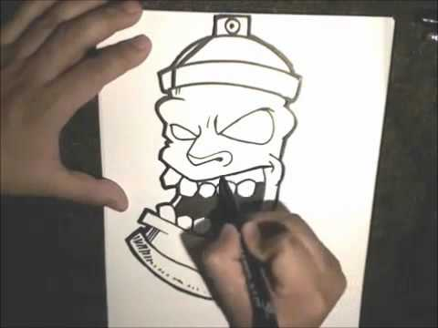 How To Draw a SprayCan - |Graffiti Character| by OrestisCY