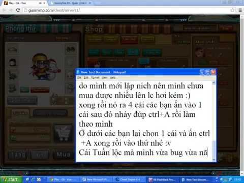 Cách bug web shop gunny lậu 28/7/2014