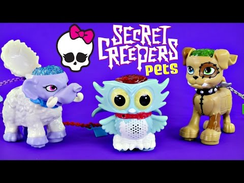 Monster High Secret Creepers Pets Electronic Recording Toys DCTC MH Shiver Watzit Sir Hoots-a-Lots
