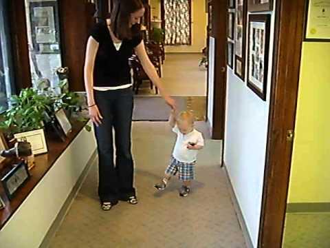 Infant with Prosthetic takes Early Steps