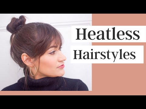 Hairstyles For Short Hair On Youtube : Heatless Hairstyles For Short & Medium Length Hair - YouTube