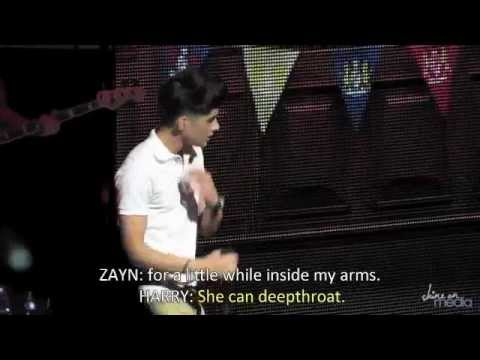 One Direction forgets lyrics on concerts