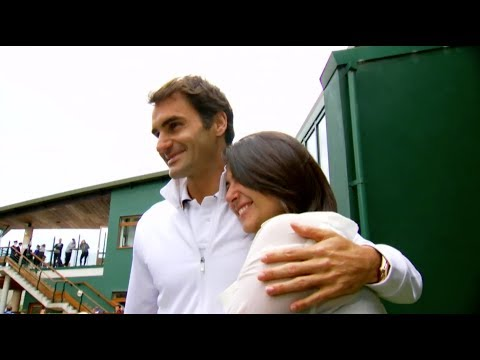 My Wish: Roger Federer Plays Tennis With Beatrice at Wimbeldon