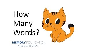Is My Memory Normal? Try Recalling These Words! Improve My